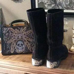 Prada custom boots by Chelsea Champlain